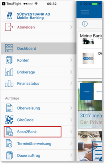 Bild Scan2Bank in SWB-App